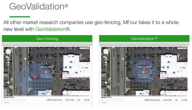 MFourDIY GeoValidation demo